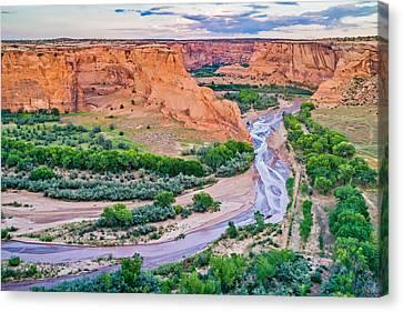 Tsegi Sundown - Canyon De Chelly National Monument Photograph Canvas Print by Duane Miller