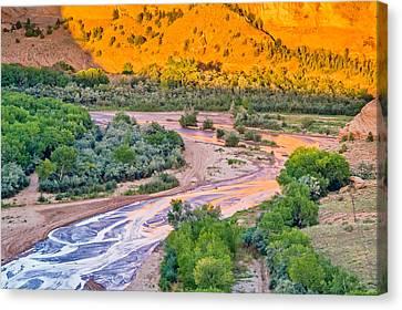Tsegi Sunset - Canyon De Chelly National Monument Photograph Canvas Print by Duane Miller