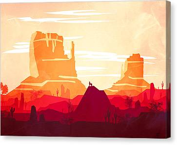 Abstract Landscape Desert Art 5 - By Diana Van Canvas Print by Diana Van