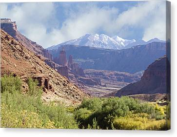 Canyon In Colorado Canvas Print by Judy Deist
