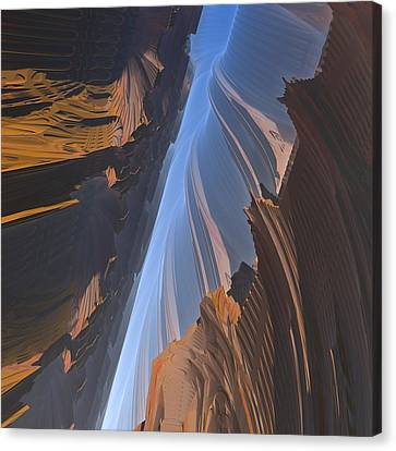 Canvas Print featuring the digital art Canyon by Lyle Hatch