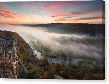 Canyon Of Mists Canvas Print by Evgeni Dinev
