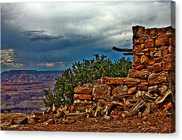 Canyon Outlook Canvas Print by William Wetmore