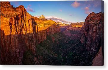 Canyon Overlook Sunrise Zion National Park Canvas Print