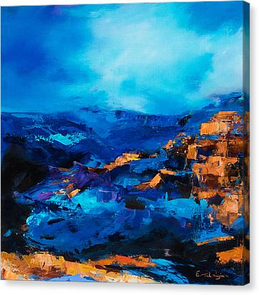 Canyon Song Canvas Print by Elise Palmigiani
