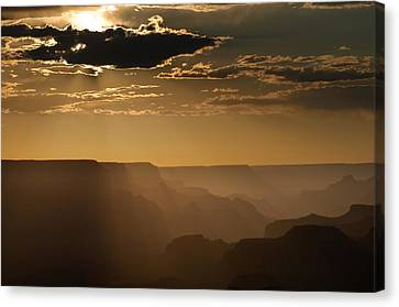 Canyon Strata Canvas Print by Steve Gadomski