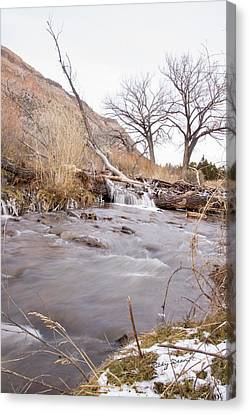 Canyon Stream Falls Canvas Print