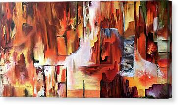Canyon Walls Canvas Print