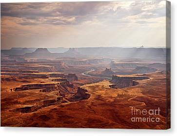 Outlook Canvas Print - Canyonlands Panorama by Delphimages Photo Creations