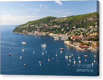 Cap De Nice And Villefranche-sur-mer On French Riviera Canvas Print by Elena Elisseeva