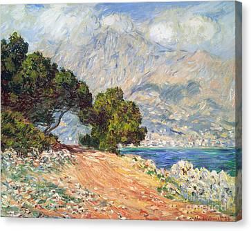 Cap Martin Canvas Print by Claude Monet