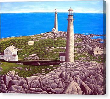 Cape Ann Twin Towers Canvas Print by Frederic Kohli