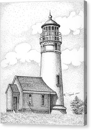 Cape Blanco Lighthouse Canvas Print by Lawrence Tripoli