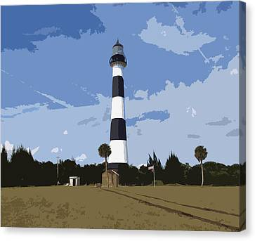 Cape Canaveral Light Canvas Print by Allan  Hughes