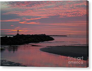 Canvas Print - Cape Charles Pink Sunset by Tannis Baldwin