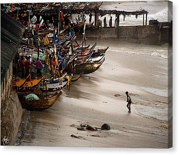 Canvas Print featuring the photograph Cape Coast Storm by Wayne King