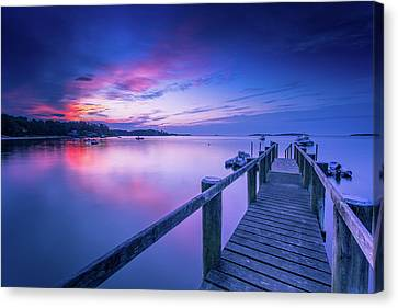 Cape Cod Art Sunrise On Pleasant Bay In July Canvas Print by Dapixara