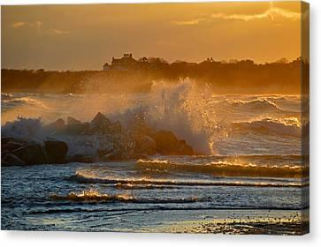 Cape Cod Bay - Heavy Surf - Sunrise Canvas Print