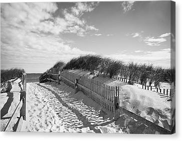 Cape Cod Beach Entry Canvas Print by Mircea Costina Photography