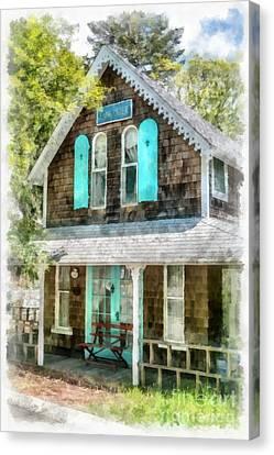 Cape Cod Cottage Cba Canvas Print by Edward Fielding