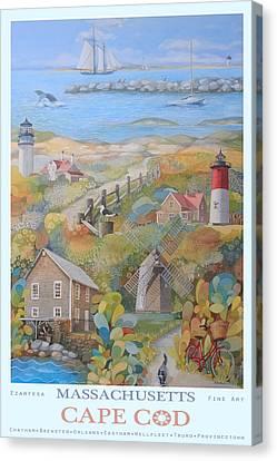 Cape Cod Canvas Print by Ezartesa Art