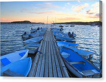 Cape Cod Harbor Boats Canvas Print by John Burk