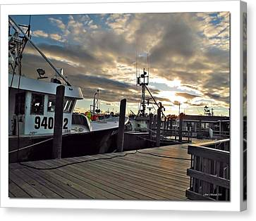 Cape Cod Harbor Canvas Print by Joan  Minchak