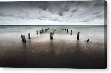 Cape Cod Into The Sea Canvas Print by Bill Wakeley