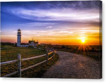 Cape Cod Light Canvas Print by Mark Papke