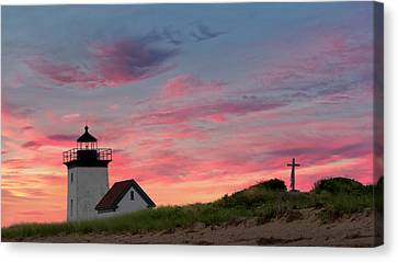 Cape Cod Long Point Light Canvas Print by Bill Wakeley