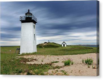 Cape Cod Scenery Canvas Print - Cape Cod Long Point Lighthouse by Bill Wakeley