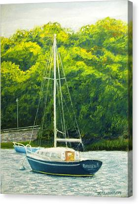 Cape Cod Sailboat Canvas Print by Joan Swanson