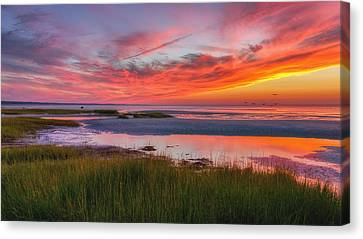 Cape Cod Skaket Beach Sunset Canvas Print