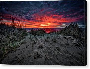 Coast Guard Canvas Print - Cape Cod Sunrise by Rick Berk