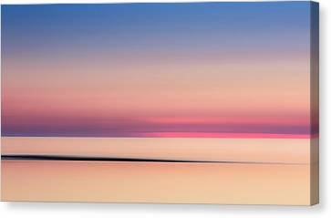 Abstract Seascape Canvas Print - Cape Cod Sunset Colors by Bill Wakeley