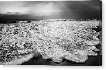 Cape Cod Surf Bw Canvas Print by Bill Wakeley