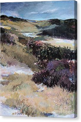 Canvas Print featuring the painting Cape Dune by Diane Ursin