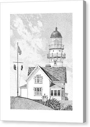 Cape Elizabeth Light Canvas Print by Philip LeVee