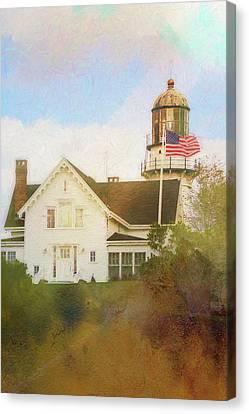 Cape Elizabeth Lighthouse 2 Canvas Print by Terry Davis