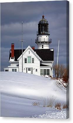 Cape Elizabeth Lighthouse Canvas Print by Olivier Le Queinec