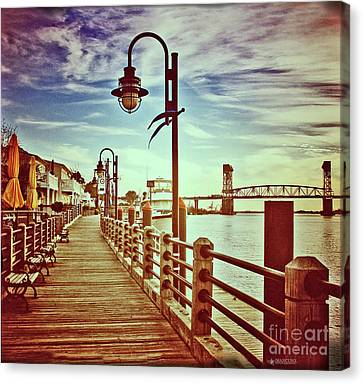 Cape Fear River Front Canvas Print by Phil Mancuso