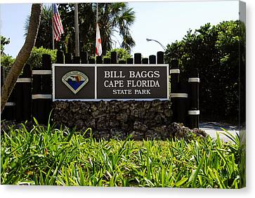 Cape Florida Entrance Sign Canvas Print