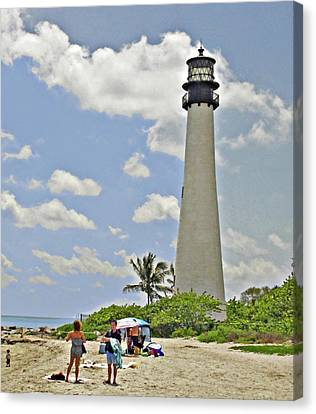 Cape Florida Lighthouse Canvas Print by Allan Einhorn