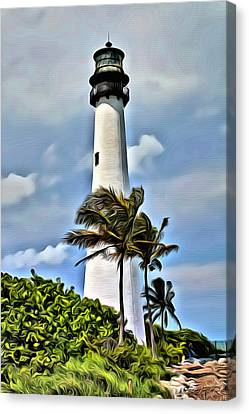 Cape Florida Lighthouse Canvas Print by Anthony C Chen