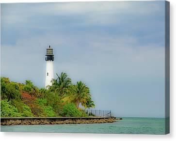 Cape Florida Lighthouse Canvas Print by Edie Ann Mendenhall
