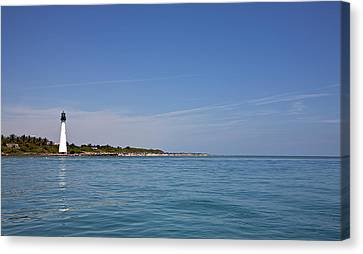 Cape Florida Lighthouse Canvas Print by William Wetmore