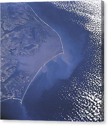 Cape Hatteras Islands Seen From Space Canvas Print by Science Source