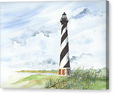 Cape Hatteras Lighthouse Canvas Print by Denise   Hoff