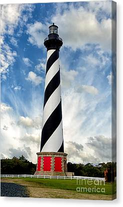 Cape Hatteras Lighthouse Landscape Photograph Canvas Print by Melissa Fague