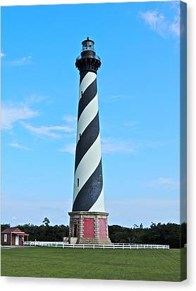 Cape Hatteras Lighthouse Lawn Canvas Print by Eve Spring